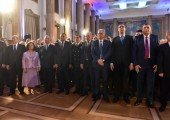 Their Royal Highnesses at the reception of HE Mr. Tomislav Nikolic, President of the Republic of Serbia