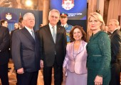 HRH Crown Prince Alexander, HE Mr. Tomislav Nikolic, President of the Republic of Serbia, HRH Crown Princess Katherine and Mrs. Dragica Nikolic, President Nikolic's spouse