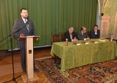 "Dr. Cedomir Antic at the promotion of the book ""History of the Republic of Srpska"""