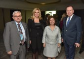 Academian Nebojsa Lalic, Dean of the School of Medicine, University of Belgrade, Prof. Sanja Stankovic, Director of Center for Medical Biochemistry of Clinical Center of Serbia, HRH Crown Princess Katherine and Dr. Meho Mahmutović, State Secretary in the Ministry of Health