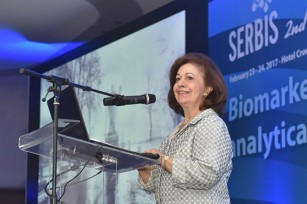 "HRH Crown Princess at the opening of ""The Serbian Biomarkers"" symposium (SERBIS)"
