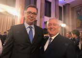 HRH Crown Prince Alexander with the Prime Minister of the Republic of Serbia, HE Mr. Aleksandar Vucic