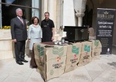 Their Royal Highnesses Crown Prince Alexander and Crown Princess Katherine at Bean & Leaf stand