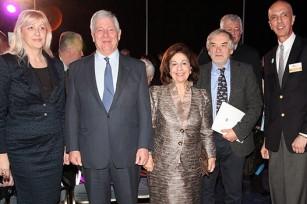 Prof. Vesna Mandic, HRH Crown Prince Alexander and Crown Princess Katherine, HE Mr. Vladimir Gasparic, Prof. Danilo Golijanin
