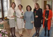 HE Dr. Vera Jovanovska-Tipko, Ambassador of Macedonia, HE Mrs. Narinder Chauhan, Ambassador of India, HRH Crown Princess Katherine, HE Mrs. Adela Mayra Ruiz Garcia, Ambassador of Cuba, HE Mrs. Alona Fisher Kamm, Ambassador of Israel