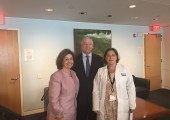 Their Royal Highnesses Crown Princess Katherine and Crown Prince Alexander with Dr. Leslie Lehmann at the Dana-Farber Cancer Institute