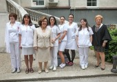 "HRH Crown Princess Katherine with nurses of the Children's Hospital for Pulmonary Diseases ""Dr Dragisa Misovic"""