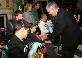 HRH Crown Prince Alexander is giving Easter gifts for children