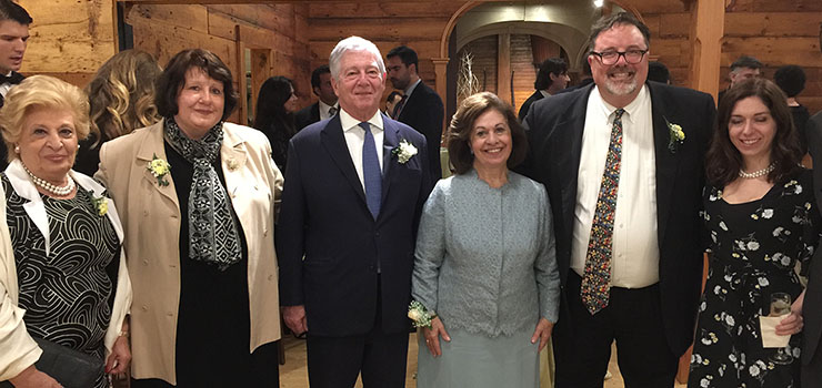 Mrs. Betty Roumeliotis, Mrs. Nada Sizemore, HRH Crown Prince Alexander, HRH Crown Princess Katherine, Mr. David Sizemore, Ms. Amanda Garfinkel