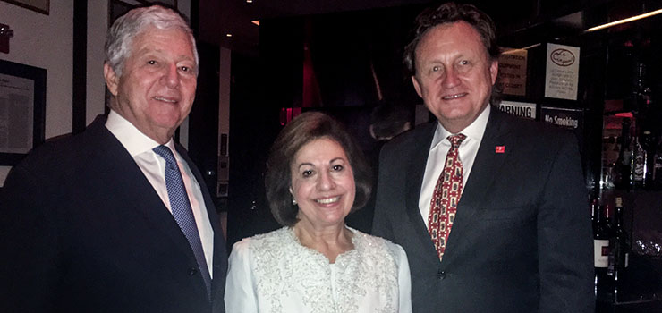 TRH Crown Prince Alexander and Crown Princess Katherine with Dr. Douglas Jackson, CEO of the Project C.U.R.E.