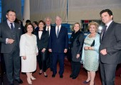 Sal Rezbaez, HRH Crown Princess Katherine, Consul General of Serbia Mirjana Zivkovic, HRH Crown Prince Alexander, Mrs. Betty Roumeliotis and Bob Foresman with guests