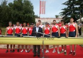 "HRH Crown Prince Alexander christens ""Queen Maria"" Rowing Boat"