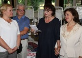 "Mrs. Georgina Kirali's addressing to the residents of home ""Vozdovac"""
