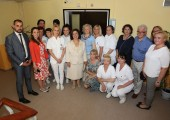 "HRH Crown Princess Katherine with the medical staff of ""Vozdovac"" home for elderly"