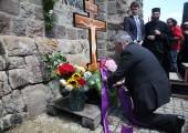 HRH Crown Prince Alexander lays a wreath at Gazimestan