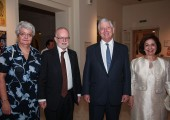 HE Mr. Denis Keefe, Ambassador of the United Kingdom to Serbia, with his spouse, Their Royal Highnesses Crown Prince Alexander and Crown Princess Katherine