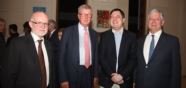 HE Mr. Denis Keefe, Ambassador of the United Kingdom to Serbia, Sir Tom Trubridge, Prof. Slobodan Markovic, member of the Crown Council, HRH Crown Prince Alexander