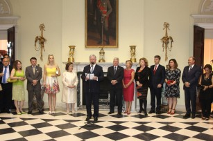 HRH Crown Prince Alexander at the exhibition opening at the White Palace
