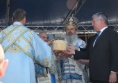 HRH Crown Prince Alexander at the liturgy in Gracanica monastery