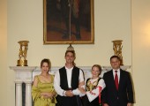 Newlyweds with Mr. Vuk Jeremic and his spouse Natasa