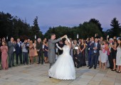 The first dance of the newlyweds