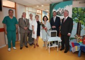 Their Royal Highnesses Crown Prince Alexander and Crown Princess Katherine and HE Mr. Kyle Scott, Ambassador of United States of America in Paediatric Surgery children clinic