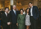 Their Royal Highnesses Crown Prince Alexander and Crown Princess Katherine with grandson Michael, their granddaughter Stephanie and her husband Mr. Michael Knapp at the fundraising event in Chicago