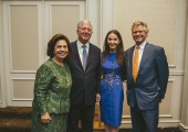 Their Royal Highnesses Crown Prince Alexander and Crown Princess Katherine at the fundraising event at Drake hotel in Chicago
