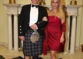 Mr. Ken Lindsay, Chivas's international Brand Ambassador and Their Royal Highnesses' daughter Alison