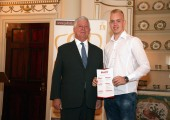 His Royal Highness Crown Prince Alexander with awarded graduate