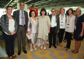 HRH Crown Princess Katherine with the organizers of the General Assembly of the Association of European Coeliac Societies