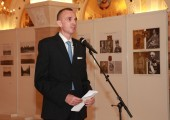 Mr. Dušan Babac, author of the exhibition and a member of the Privy Council