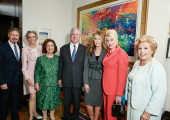 Michel Witmer, Karen Burke, TRH Crown Princess Katherine and Crown Prince Alexander, Cheri Kaufman, Ivana Trump, Betty Roumeliotis