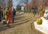 HRH Crown Prince Alexander at the Remembrance Day Ceremony at the Commonwealth War cemetery