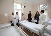 HRH Crown Princess Katherine at the reconstructed Psychiatric hospital Kovin