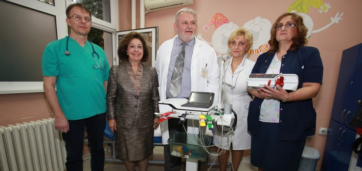 "HRH Crown Princess Katherine with the medical staff of the Institute for Health Protection of Mother and Child of Serbia ""Dr. Vukan Cupic"""