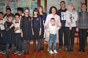 """Nj.K.V. Princeza Katarina sa učenicima škole """"Veljko Ramadanović"""""""