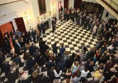 """Opening of the exhibition """"King Peter II in the Slovenian Alps"""" at the White Palace"""
