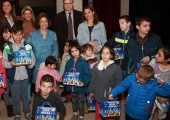 "HRH Crown Princess Katherine with children and the organizers of ""Cinderella"" performance"