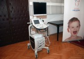 New ultrasound machine worth Euros 37,000 for the University Children's Clinic in Tirsova
