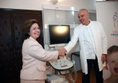 HRH Crown Princess Katherine and Professor Zoran Radojicic, hospital director