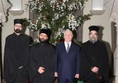 HRH Crown Prince Alexander and clergy of Serbian Orthodox Church