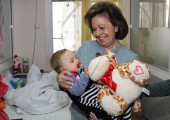 HRH Crown Princess Katherine in humanitarian visit at University Children's Hospital in Tirsova Street
