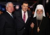 HRH Crown Prince Alexander, HE Mr. Milorad Dodik, President of the Republika Srpska and His Holiness Serbian Patriarch Irinej