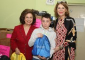 HRH Crown Princess Katherine  and Ms. Donna Sekulich, board member of Lifeline Chicago, on tradicional Christmas visit to Home for Children and Youth ``Beograd``