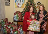 HRH Crown Princess Katherine  and Ms. Donna Sekulich, board member of Lifeline Chicago, on tradicional Christmas visit to Home for Children and Youth ``Jovan Jovanovic Zmaj``