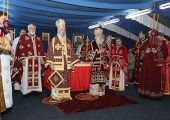 Holy Liturgy officiated by His Holiness Patriarch Irinej of Serbia with His Grace Bishop Jovan of Sumadija