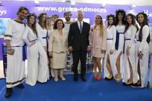 Њихова Краљевска Височанства Престолонаследник Александар и Принцеза Катарина са ћерком Алисон на Међународном сајму туризма