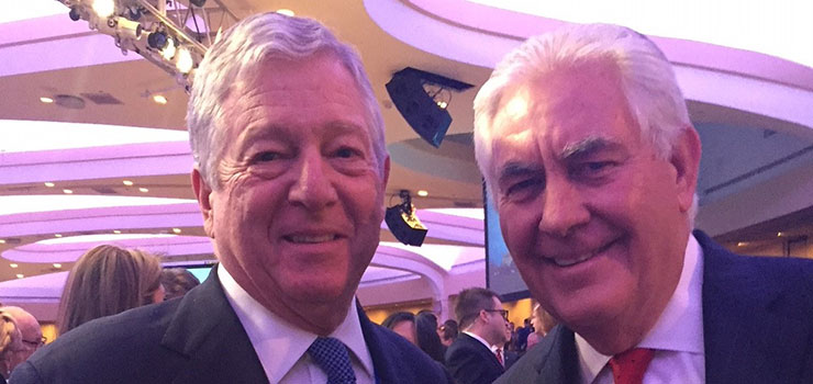 HRH Crown Prince Alexander and Mr. Rex Tillerson, United States Secretary of State
