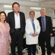 HRH Crown Princess Katherine, Dr. Douglas Jackson, President and CEO of Project C.U.R.E, Prof. Dr. Dragos Stojanovic, director of Clinical Hospital Center Zemun and HE Mr. Kyle Scott, United States Ambassador to Serbia